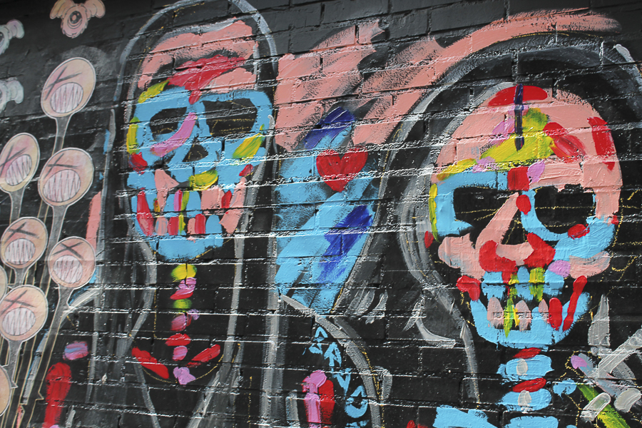 New-york-natalia-geldart-bridge-art-skulls-graffiti