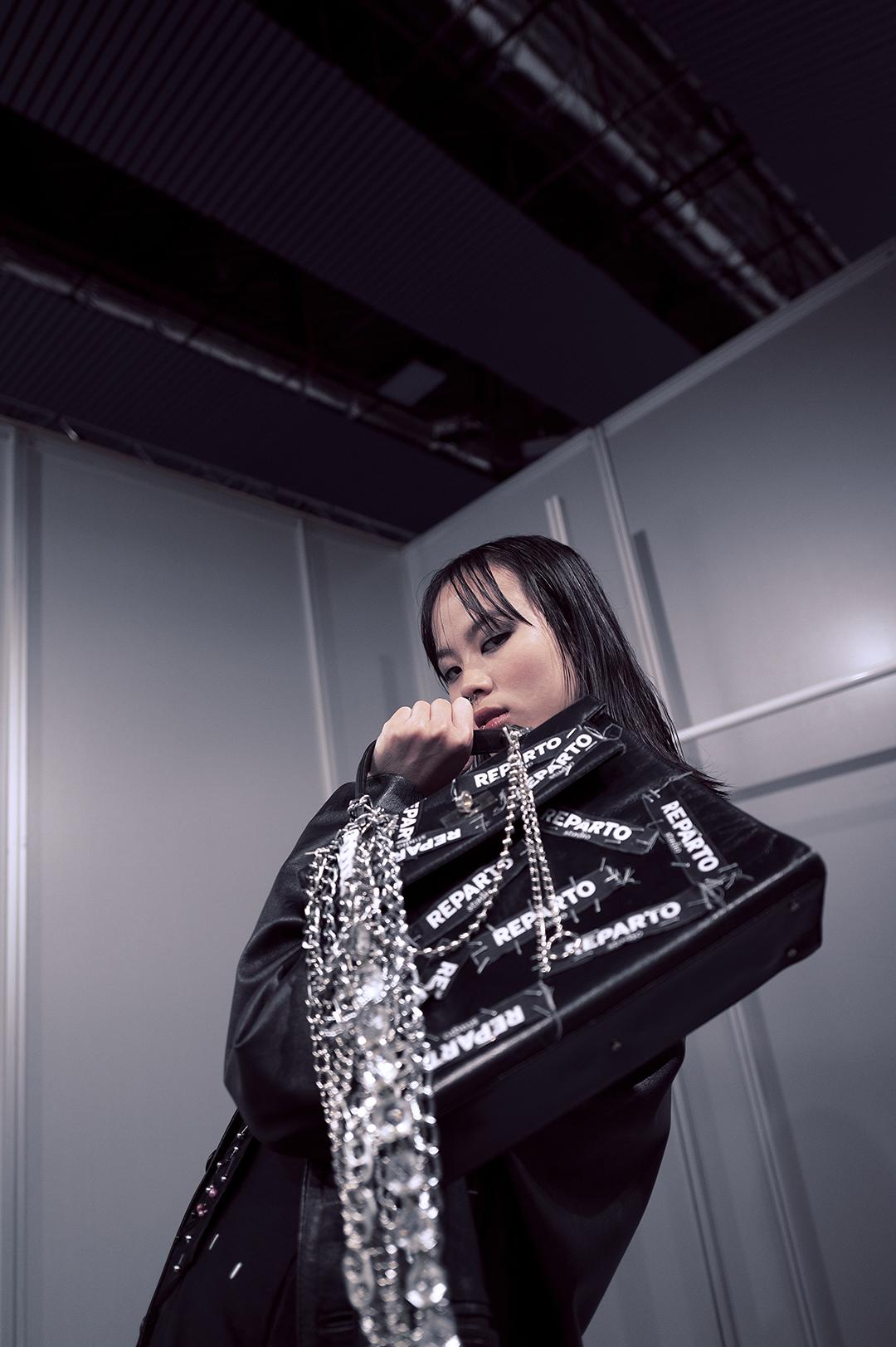 Mei en el Backstage de REPARTO Studio. Foto por Patricia Blas.